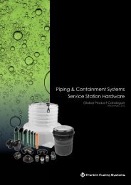 Piping Containment and Service Station Hardware EMEA - Franklin ...