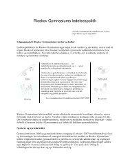 Ledelsespolitik - Risskov Gymnasium