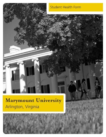 Student Medical Form - Marymount University