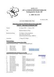 Ausschreibung - Landesschwimmverband Oberösterreich