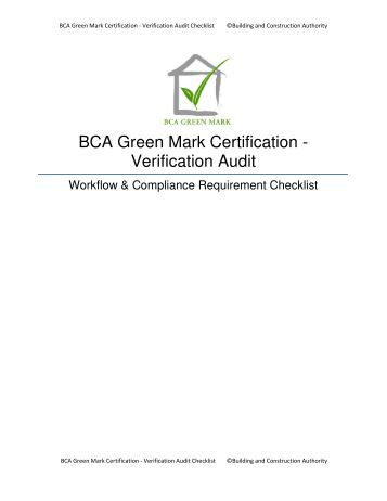 bca certified green mark professional (gmp) programme