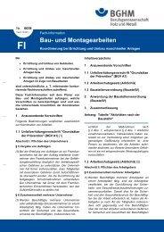 Bau - Berufsgenossenschaft Holz und Metall