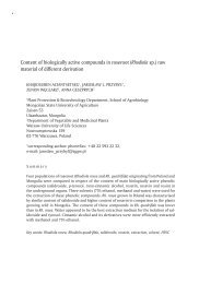 Content of biologically active compounds in ... - Herbapolonica.pl
