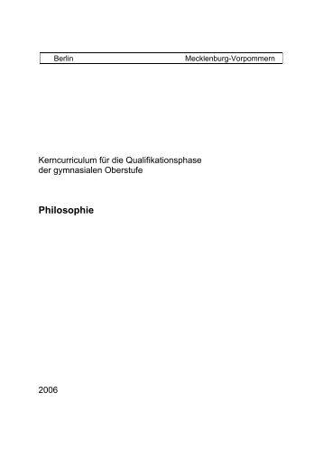 Kerncurriculum Philosophie - Bildungsserver Mecklenburg ...