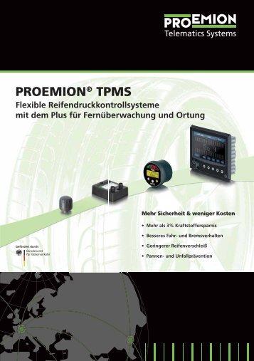 Proemion TPMS, Flexible Reifendruckkontrollsysteme