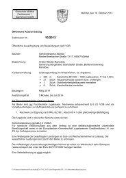Mustervorlage für Ausschreibungstexte - Gemeinde Mühltal