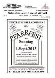 Sebastian und Hl.Geist Aktuell - Bistum Mainz