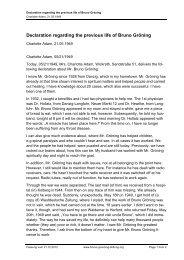Declaration regarding the previous life of Bruno Gröning