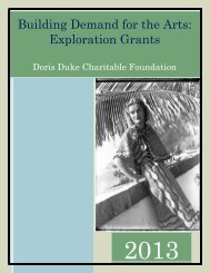 Building Demand for the Arts: Exploration Grants Guidelines