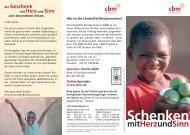 Schenken mitHerzundSinn - Christoffel-Blindenmission