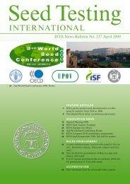 ISTA News Bulletin - International Seed Testing Association