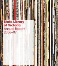 Cover, table of contents, key reports - State Library of Victoria