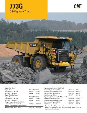 AEHQ6342-01, Cat 773G Off-Highway Truck Specalog