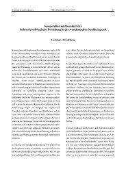 Ludwig von Friedeburg: Kooperation und Konkurrenz - SOFI
