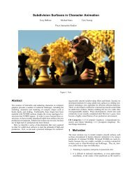 Subdivision Surfaces in Character Animation - Pixar Graphics ...