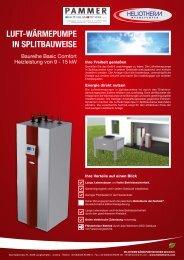 Luftwärmepumpe in Splitbauweise, Baureihe Basic Comfort ...