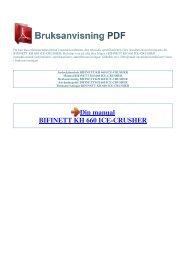 Instruktionsbok BIFINETT KH 660 ICE-CRUSHER - 1