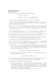 Differential Topology Example Sheet 4