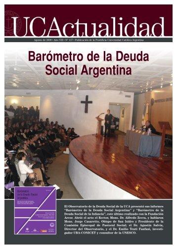 Número 127 Agosto 2009 - Universidad Católica Argentina