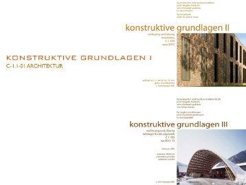 Grundlagen Baukonstruktion 1 VL- Außenwände - Universität Kassel