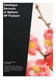 Catalogue Serveurs et Options HP ProLiant - Hewlett-Packard ...