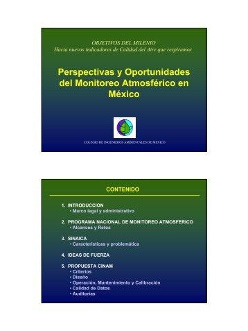 Perspectivas y Oportunidades del Monitoreo Atmosférico en México