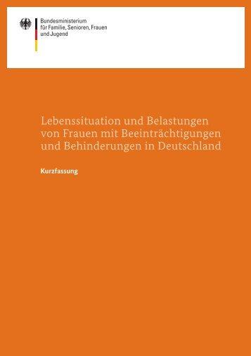 Lebenssituation und Belastungen von Frauen - Bundesministerium ...