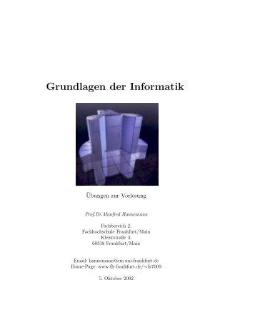 Grundlagen der Informatik - Fachhochschule Frankfurt am Main