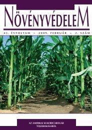 45. évfolyam * 2009. február * 2. szám az amerikai kukoricabogár