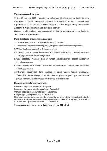 Komentarz technik eksploatacji portów i terminali 342[03]-01 ...