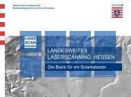 Landesweite Laserscanbefliegung in Hessen - SUN-AREA