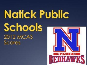 2012 MCAS Presentation - Natick Public Schools