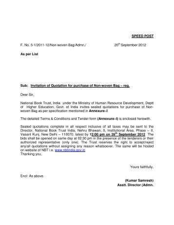 Invitation Of Quotations For The Purchase Of Liquid Handling System