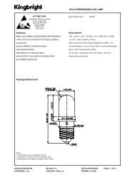 10mm SCREW BASED LED LAMP Features Package Dimensions ...