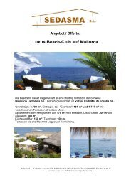 Luxus Beach-Club auf Mallorca - SEDASMA SL Ibiza/Madrid