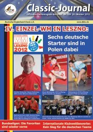 Classic-Journal Nr. 109 - Deutscher Kegler