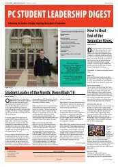 PC Student Leadership Digest Vol 5 Issue 4.indd - Providence College