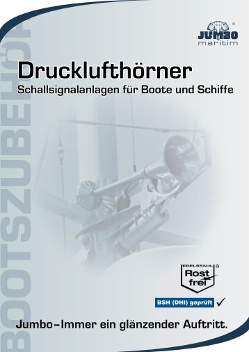 Drucklufthörner - Jumbo-Fischer