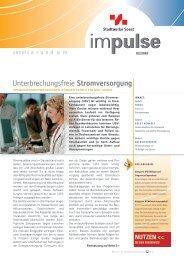 Unterbrechungsfreie Stromversorgung - Stadtwerke Soest