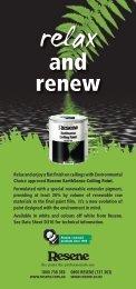 Product flyer - Resene