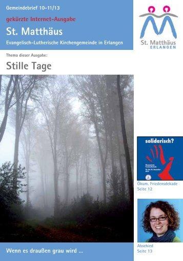Ausgabe Oktober bis November 2013 - Evang.-Luth ...