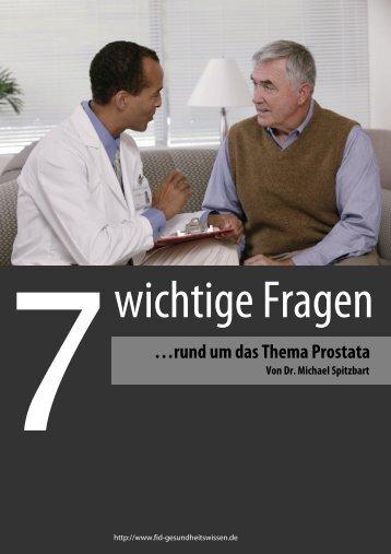 …rund um das Thema Prostata . . - FID-Gesundheitswissen