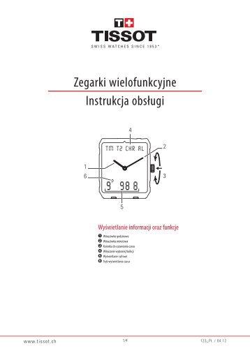 Zegarki wielofunkcyjne Instrukcja obsługi - Support - Tissot