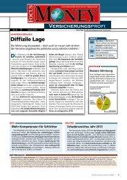 Der VersicherungsProfi – Beispiel (Nr. 01/14) - FOCUS MediaLine