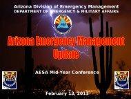 Update on Emergency Management Activities - AESA