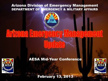 Update on Emergency Management Activities - AESA