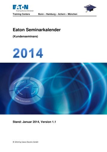 Eaton Seminarkalender 2014 - Moeller
