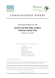 Ayrshire and Clyde Valley windfarm landscape capacity study