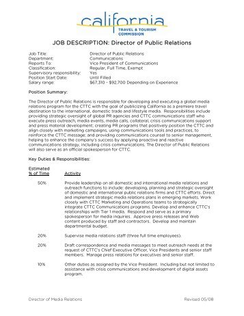 Job Description  Director Of Communications  Adma
