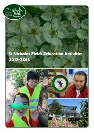St Nicholas Fields Education Activities